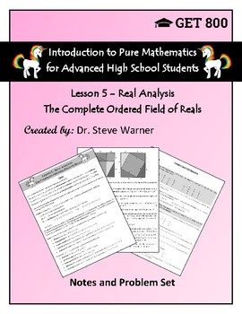 Introduction to Pure Mathematics - Lesson 5 - Real Analysis - Field of Reals