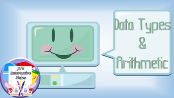 Introduction to Python Lesson 2 - Data Types & Arithmetic
