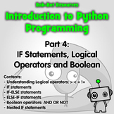 Introduction to Python Programming Part 5: If Statements &
