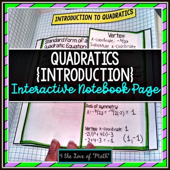 Introduction to Quadratics Interactive Notebook Page