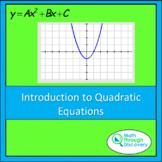 Algebra 1 - Introduction to Quadratic Equations