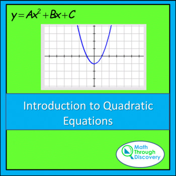 Introduction to Quadratic Equations - A and B