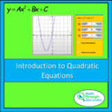 Introduction to Quadratic Equations-A and B -Parabolic Fun