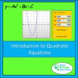 Algebra 1-Intro to Quadratic Equations-A and B -Parabolic