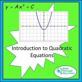 Introduction to Quadratic Equations - TI84C