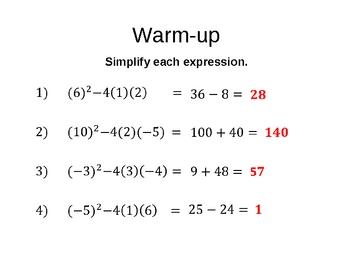 Introduction to Quadratic Formula