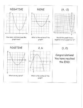 Introduction to Quadratics Chain Activity