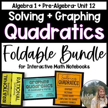 Introduction to Quadratics (Foldable Mini-Bundle)