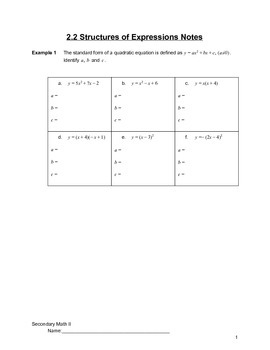 Introduction to Quadratics Lesson 2 of 6