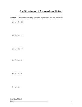 Introduction to Quadratics Lesson 4 of 6