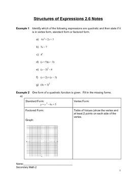 Introduction to Quadratics Lesson 6 of 6