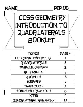 Introduction to Quadrilaterals and Coordinate Geometry