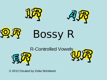 Introduction to R-Controlled Vowels Power Point Presentation