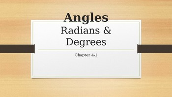 Introduction to Radians