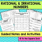 Introduction to Rational and Irrational Numbers Interactive Notebook