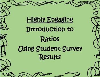 Introduction to Ratios, Decimals & Percents using Student Surveys: Engaging!