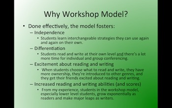 Reader's Workshop for Newbies (and Great Ideas for the Experienced)
