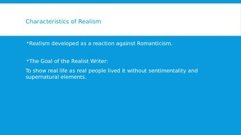 Introduction to Realism (1865-1910)