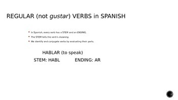 Introduction to Regular -AR Verbs
