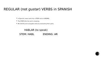 Introduction to Regular -AR Verbs