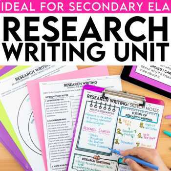 teaching a research paper unit