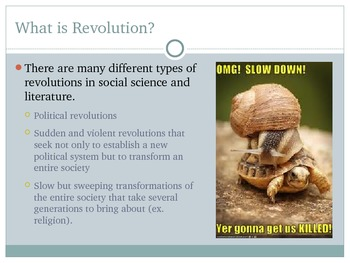 Introduction to Revolution and Protest - Lesson, PowerPoint, Assignment, Rubric