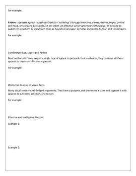 Introduction to Rhetoric AP Language and Composition Ethos Pathos Logos