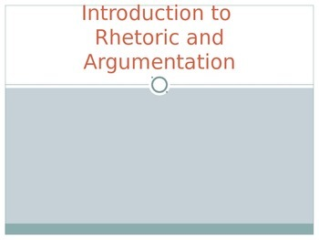 Introduction to Rhetoric PowerPoint
