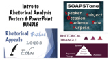 Introduction to Rhetorical Analysis PowerPoints & Posters BUNDLE