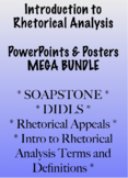 Introduction to Rhetorical Analysis PowerPoints and Posters MEGA BUNDLE