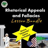 Rhetoric Lesson Bundle Appeals Fallacies Secondary Ethos Pathos Logos
