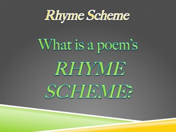 Introduction to Rhyme Scheme