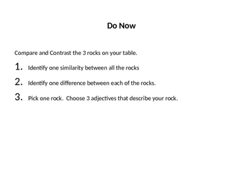 Introduction to Rocks Powerpoint