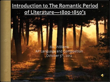 Introduction to Romantacism & The Scarlet Letter
