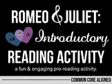 Romeo and Juliet - Fun & Engaging Pre-Reading Activity