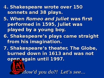 Introduction to Romeo and Juliet and William Shakespeare