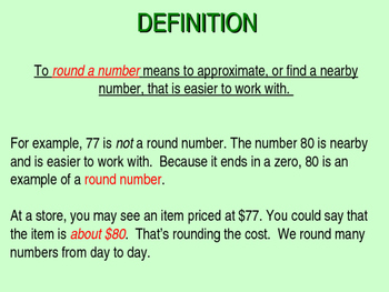 Introduction to Rounding: A Presentation