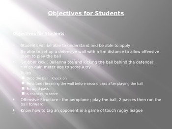 Introduction to Rugby League