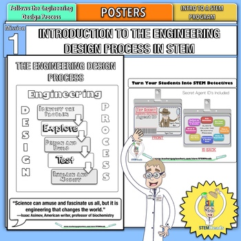 Introduction to STEM And The Engineering Design Process  Packet Posters IDs