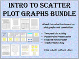 Introduction to Scatter Plot Graphs Bundle - Lab, Notes, PowerPoint Presentation