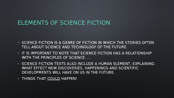 Introduction to Sci-Fi and Fantasy Literature