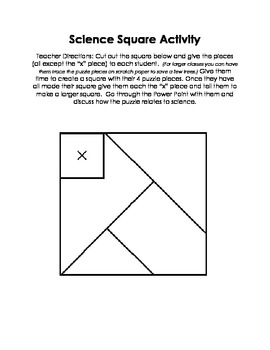 Introduction to Science Activity Worksheet