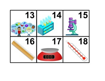 Introduction to Science Calendar Cards