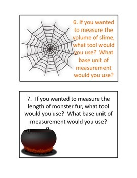Introduction to Science Halloween-Themed Task Cards