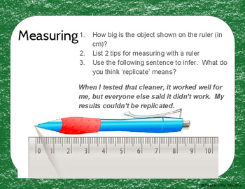 Introduction to Science Exit Ticket or Bell Ringer Assessment Task Card Set
