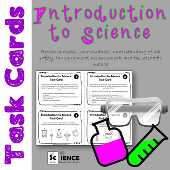 Introduction to Science Task Cards for Review or Assessment