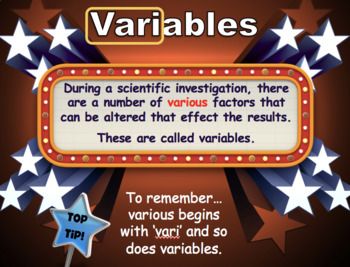 Introduction to Science - Variables