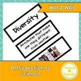Introduction to Science Word Wall/Vocabulary Cards