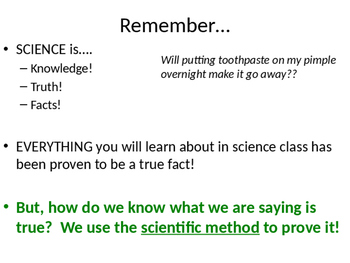 Introduction to Scientific Method Powerpoint