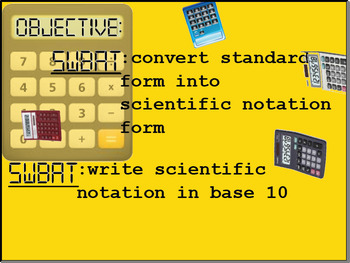 Introduction to Scientific Notation Smart Board Lesson